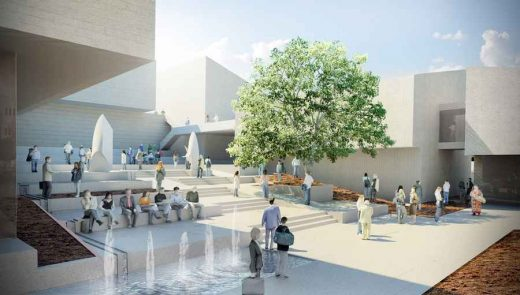 Palestinian Museum Architecture Competition entry by Henning Larsen