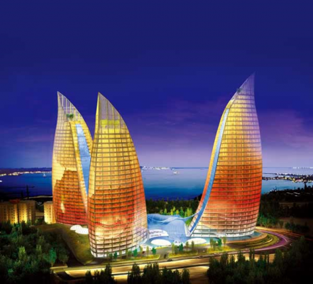 Flame Towers, Baku Buildings, Azerbaijan