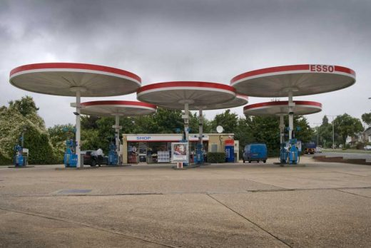 Mobil Red Hill petrol station canopies