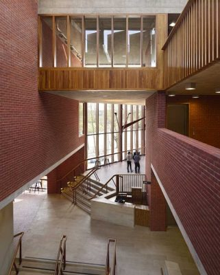 Lyric Theatre Belfast by O'Donnell + Tuomey foyer