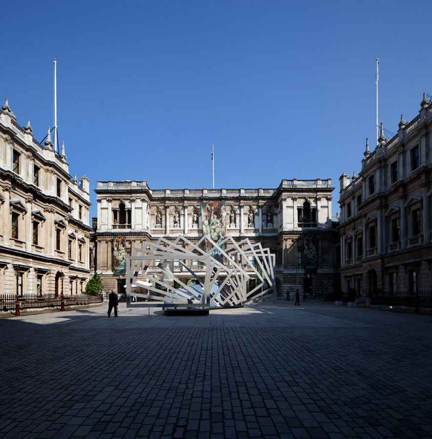 Royal Academy Installation Chris Wilkinson Structure
