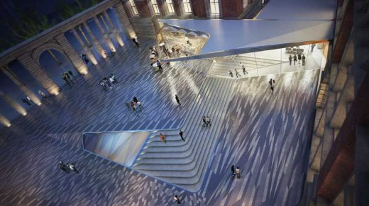 V&A Exhibition Road Project courtyard by AL_A | www.e-architect.co.uk