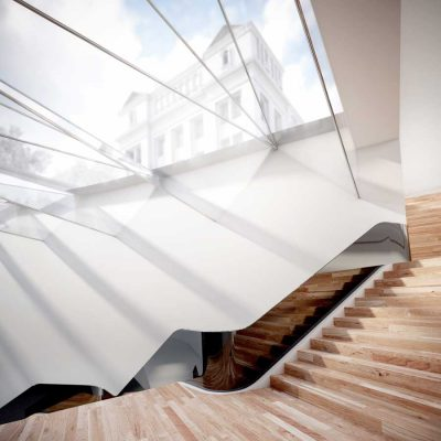 V&A Exhibition Road Project stairs by Amanda Levete Architects | www.e-architect.com
