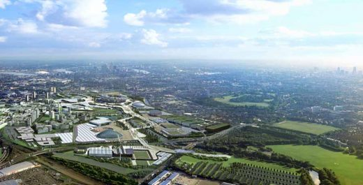 London Olympic Park aerial photo