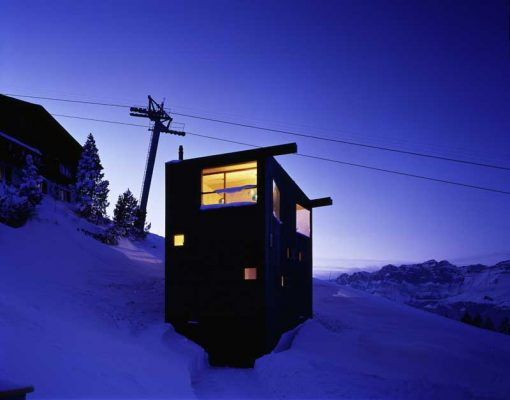 Swiss Alps Holiday Cottage by EM2N Architects