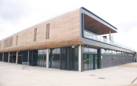 White Water Canoe Centre, Lee Valley London timber facade