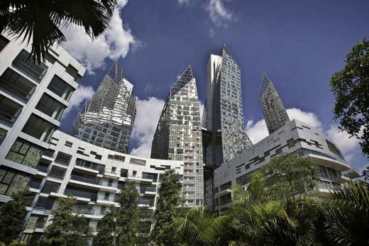 Reflections at Keppel Bay Singapore buildings design by Daniel Libeskind Architect