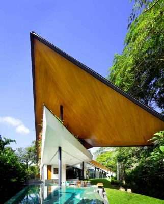 Winged House Singapore Contemporary residential architecture