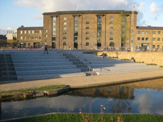 Kings Cross Central St Martins Building, London canal