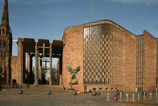 Coventry Cahtedral building by Basil Spence architect