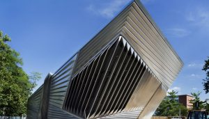 Eli and Edythe Broad Art Museum building by Zaha Hadid architect