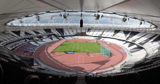 London Olympic Stadium building track