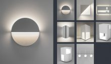 Richard Meier Light collection at Ralph Pucci showroom in New York