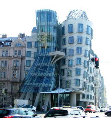 Dancing House Prague Fred and Ginger building by Frank Gehry architect
