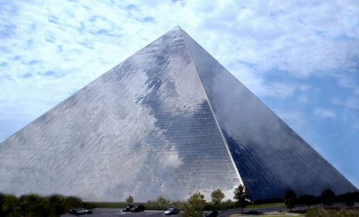 Large Span Translucent Building pyramid structure