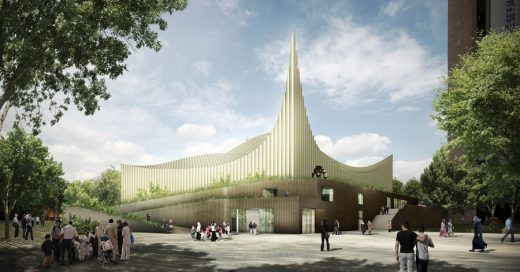 Central Mosque of Pristina Kosovo design by Taller 301 Architects