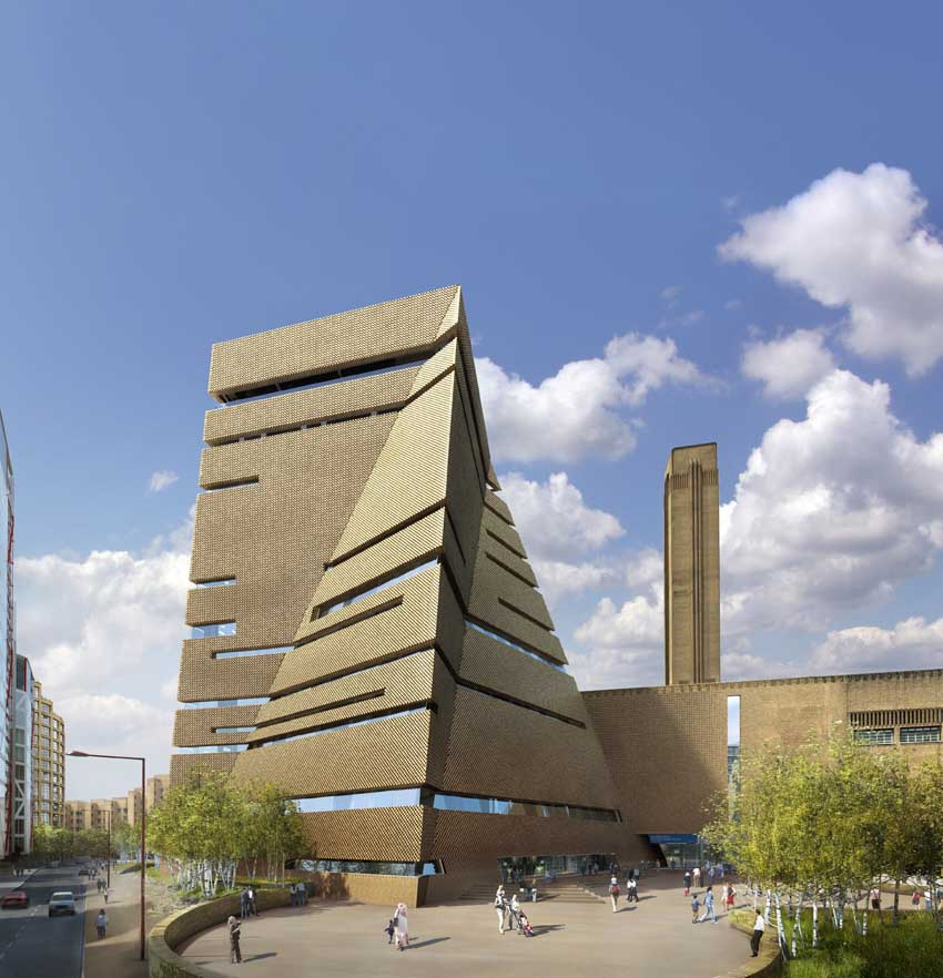 Tate modern extension architect e architect for Construction moderne