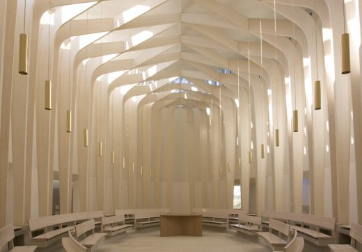 Chapel at Cuddesdon by Niall Maclaughlin Ripon College interior