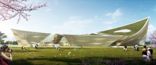 Wooden Wave Cultural Center, Taiwan design by TheeAe LTD.