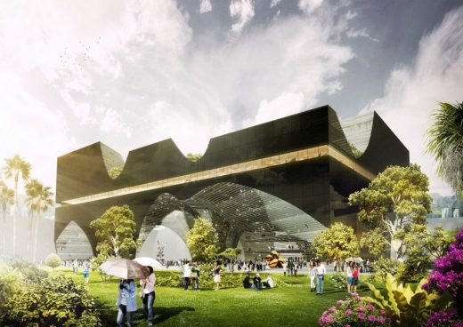 Taichung City Cultural Center Project design by AllesWirdGut Architektur