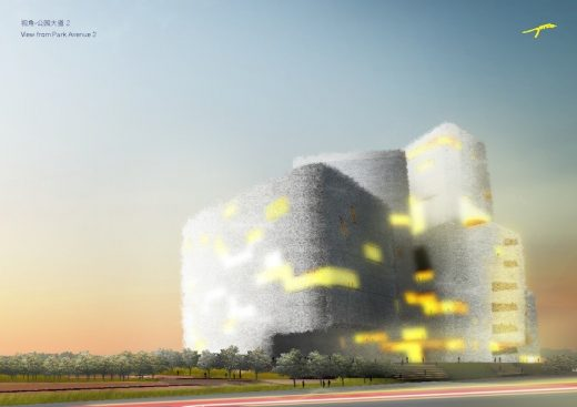 Taichung Cultural Center Competition Entry Taiwan design by Pruthiphon Buakaew