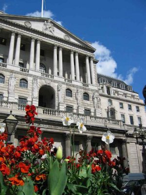 Bank of England building facade City of London