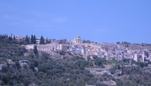 Sortino Sicily buildings in landscape