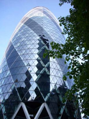 The Gherkin London tower building