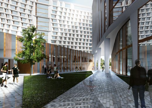 University of Chicago New Residence Hall building design