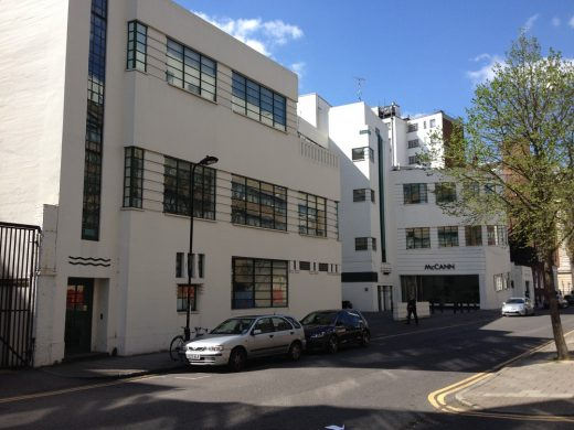 McCann Art Deco building in Bloomsbury