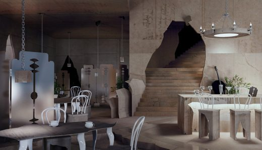 Papiernia Poland interior design club restaurant