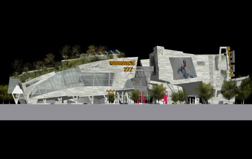 Taichung City Cultural Center Competition Entry design by Dinkoff Architects & Engineers