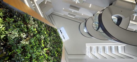 Papadakis Integrated Sciences Building at Drexel University in Philadelphia green wall