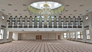 Jamia Mosque in Brierfield, Lancashire Corian arches