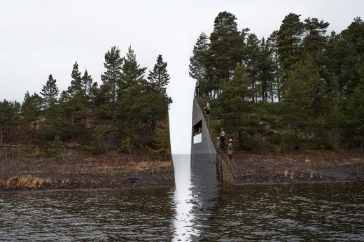 Utøya Memory Wound memorial design by Jonas Dahlberg