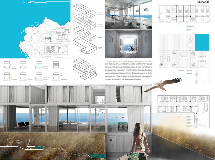 Container vacation house competition runnerup 5 e architect for Architecture house design competitions