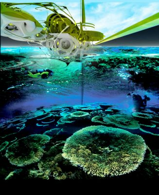 Electric artificial reef station