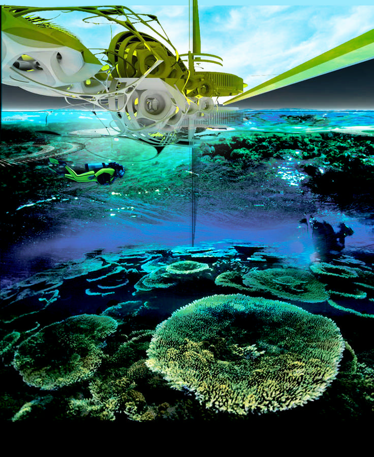 Electric Coral Reef Station Concept Design E Architect