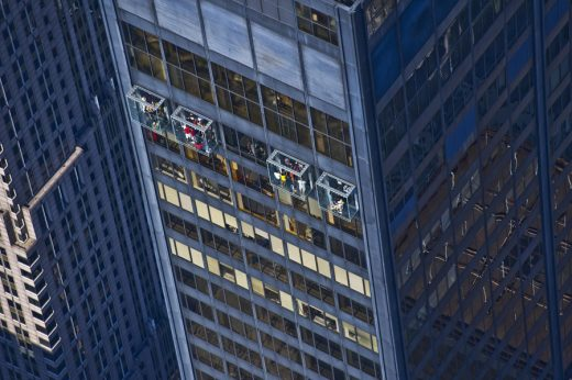 Glass balconies at Willis Tower by Skydeck Chicago