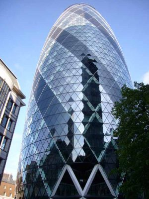 Swiss Re Building, City of London make Architects
