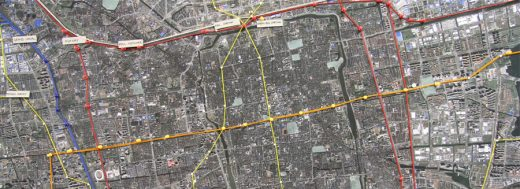 Suzhou aerial plan layout map China