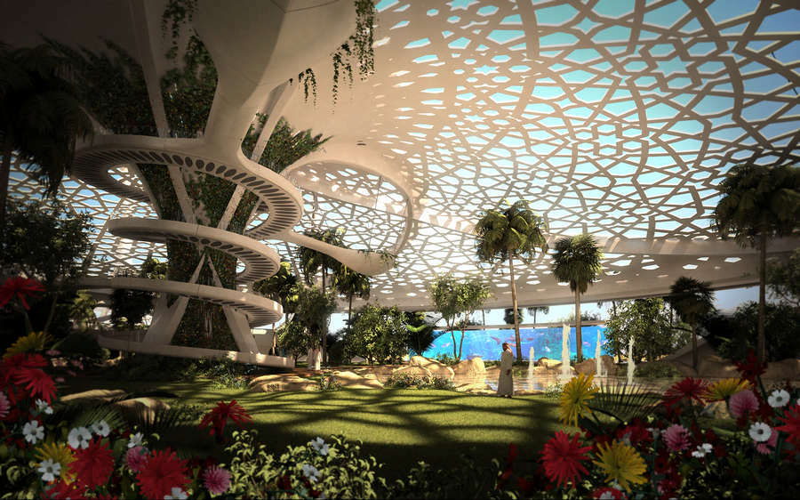 A palace for nature qatar e architect for Livyng ecodesign