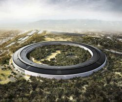 Foster + Partners Apple Campus design from above