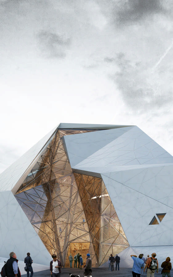 Polour rock climbing hall 3 e architect for Architecture triangulaire