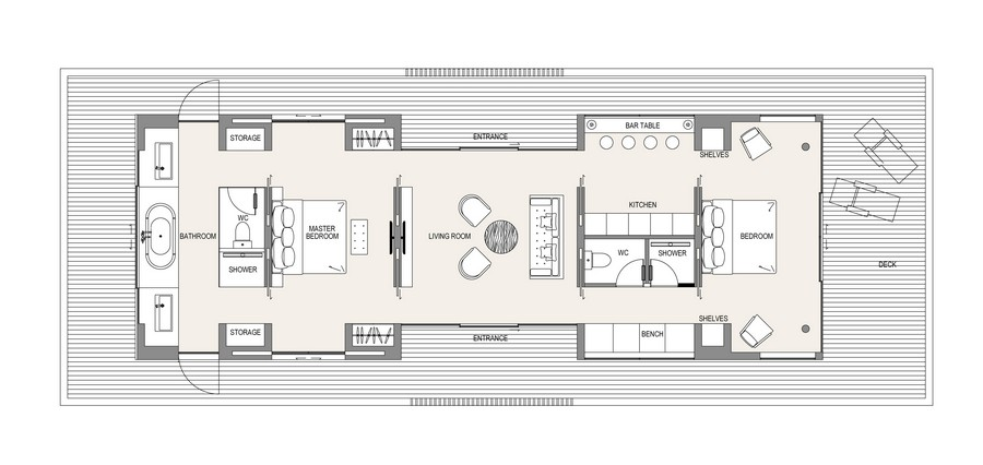 Floating house floor plan 1 e architect for Home layout design