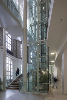 Manchester Central Library building lift interior