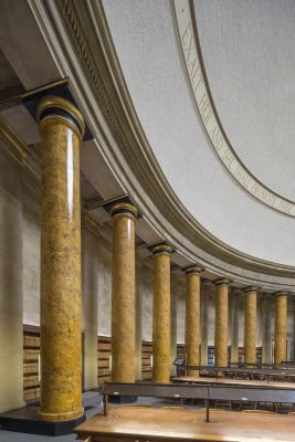 Manchester Central Library building columns