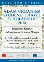 ADAM Urbanism Student Travel Scholarship