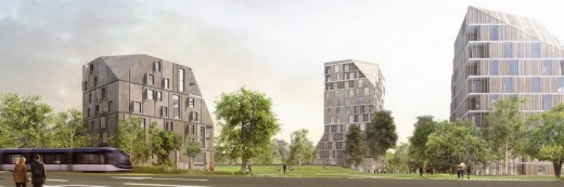 OMA Masterplan Towers in Bègles