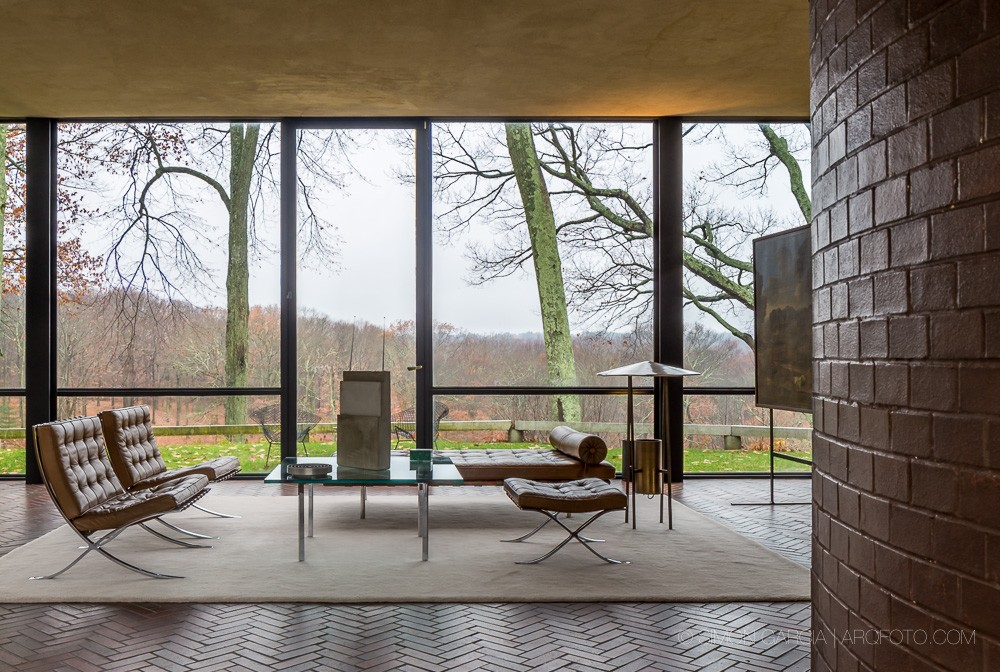 Philip johnson glass house new canaan e architect for The glass house plan